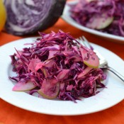 apple coleslaw serving