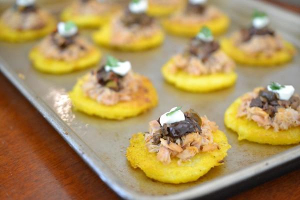 baked polenta bites
