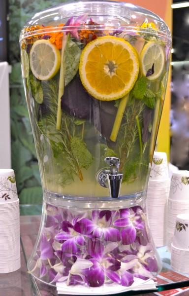 Flower-herb lemonade