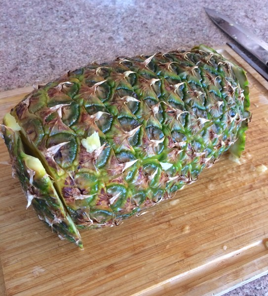 Here's the pineapple with the side skin attached.