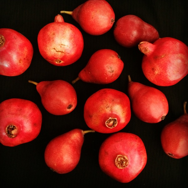 Fall pomegranates and pears from Melissa's Produce