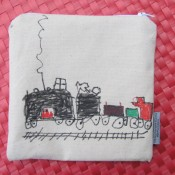Train snack bag, by our four-year-old