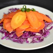 triple carrot ginger salad
