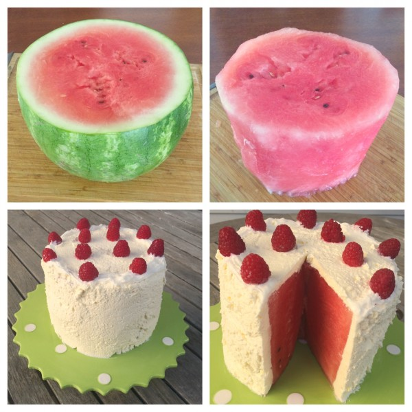 Fruit Shaped Cake Decoration : No-Bake Summer Watermelon Cake - Jolly Tomato